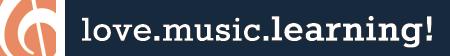 love.music.learning. Logo